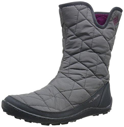Columbia Women's Minx Slip II Omni-Heat Snow Boot, Shale, Dark Raspberry, 6 B US
