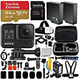 GoPro HERO8 Hero 8 Black Action Camera and Deluxe Accessory Bundle - Includes: SanDisk Extreme 64GB microSDHC Memory Card + Premium Hard Case + Underwater LED Light & Much More
