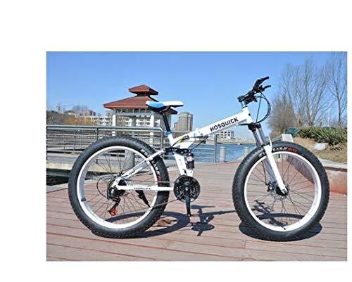 Mdsfe Bicicleta de montaña 7/21/24/27/30 Bicicletas de Velocidad Frenos de Doble Disco Bicicletas de Carretera de Velocidad Variable Carreras Bicicleta Bicicleta Plegable - E, 20 Pulgadas, 30