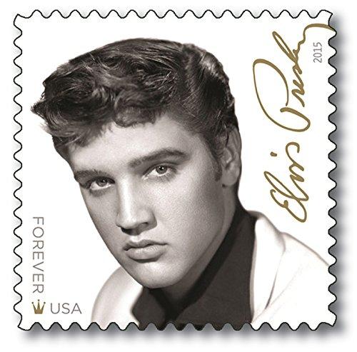 Elvis Presley | Briefmarke |postfrisch |USA |80. Geburtstag |US-Post |Ikone der Musik |Elvis-Geburtstags-Briefmarke |Plattencover |Sänger | Musiker |Schauspieler