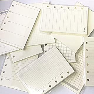 A7 Planner Inserts for 11 Packs, A7 Agenda Refill, 100gsm Thicker Paper/4.84 x 3.23'', Harphia