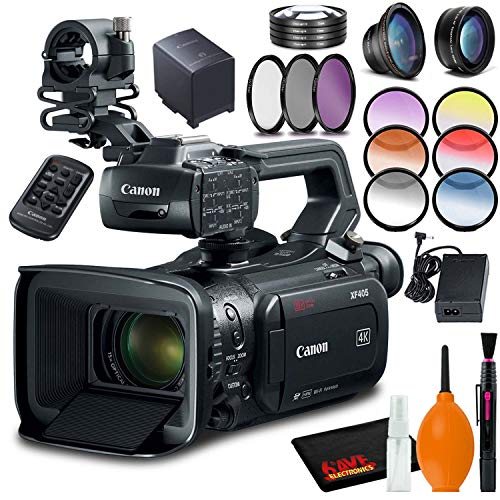 Review Of Canon XF405-E Camcorder (PAL) with Filter Kit and Cleaning Kit