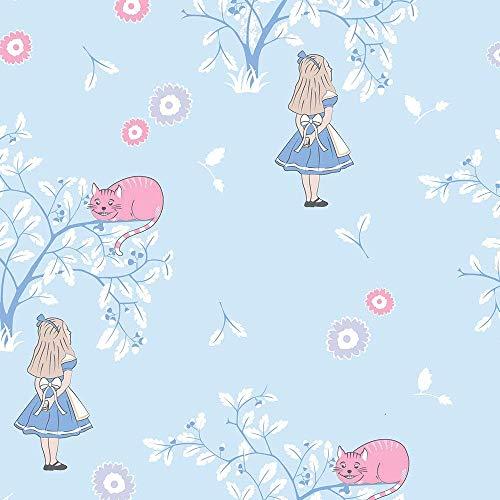 Alice im Wunderland Stoff Grinsekatze – halber Meter (100% Baumwolle, ideal zum Basteln)