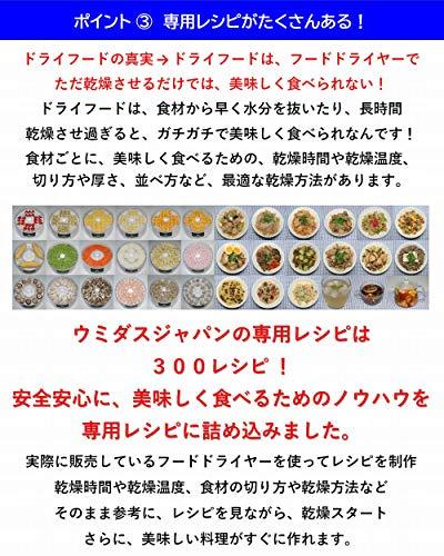 ウミダスジャパンフードドライヤー食品乾燥機300レシピFD880E