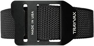 Trayvax Cinch Web Belt, Black Nylon Webbing, Black Buckle, 30-34