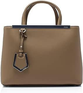 women's leather handbag shopping bag purse petite 2jours brown