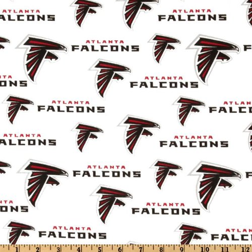 Fabric Traditions NFL Cotton Broadcloth Atlanta Falcons White Fabric By The Yard