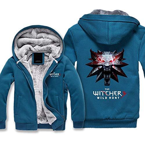Wolf-kop-spel mannen trui met capuchon mannen dikke sweatshirt kinderen winter vrijetijdsjas plus velvet