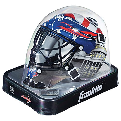 Franklin Sports New Jersey Devils NHL Team Logo Mini Hockey Goalie Mask with Case - Collectible Goalie Mask with Official NHL Logos and Colors