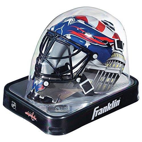 Franklin Sports Eishockey-Sammelartikel Torwart-Helm Mini, Design: Logo Einer NHL-Mannschaft, 7784F06, Washington Capitals