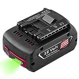 Hochstern BAT609 18V 5.5Ah Batterie remplacement pour Bosch BAT609 BAT610G BAT618G BAT619 BAT621 BAT620 outils électriques sans fil avec indicateur de charge LED