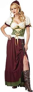 GBYAY Ropa de Mujer Vestidos Dirndl para niñas Conjunto de Uniformes de Halloween
