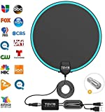 TV Antenna by TGVi's, 120 Miles Range Antenna TV Digital HD Indoor, Clearview HDTV Antenna with Smart Switch Signal Booster, Get 4K 1080P UHF & VHF Free Local Channels, 14.5ft Cable