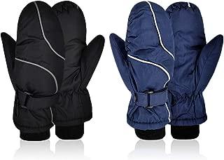 Kids Winter Ski Snow Mittens Outdoor Snowboard Waterproof Gloves Boys Girls