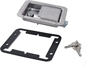 Praktisch Hardware 2 Pack RVS Paddle Slam Klink Met Slot Key - Flush Single Point handvat for de Deur Trailer RV Jeep (Col...