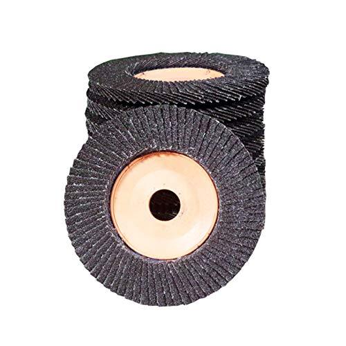 Disco Abrasivo 5 piezas de discos de láminas Rueda de láminas de óxido de aluminio de 100 mm Disco de pulido de aletas de grano 80 para discos de lijado de amoladora angular