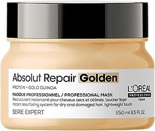 L'Oréal Professionnel   Masque Restructurant Instantané Léger pour Cheveux Secs et Abîmés, Absolut Repair Golden, SERIE EX...