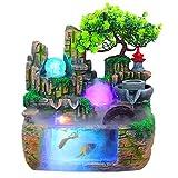 Rocalla Fuente de la Tabla, Fuente de Interior Decorativa con el Acuario Fuente, Donde la Sala de Estar, Oficina, Salón de té Decoración (Color : B, tamaño : 11.81 * 7.87 * 14.96in)