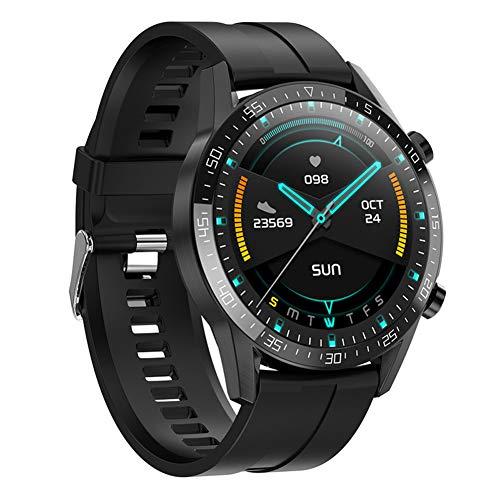 Smartwatch mit Temperatur Herz Bewertung Blut Druck SpO2 Monitor Schlafen Tracker, IP68 Wasserdicht zum Android iOS Telefon zum Männer & Damen Geschenk Fauay,Schwarz
