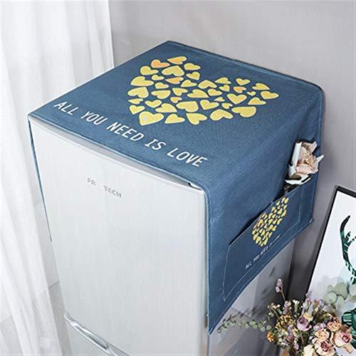 Zhangmeiren Lavadora Cubierta De Polvo Refrigerador Refrigerador Cubierta De Polvo De Algodón Cubierta De Tela Cubierta Impermeable Toallas De Tela De Polvo Microondas (Color : B, Size : S)