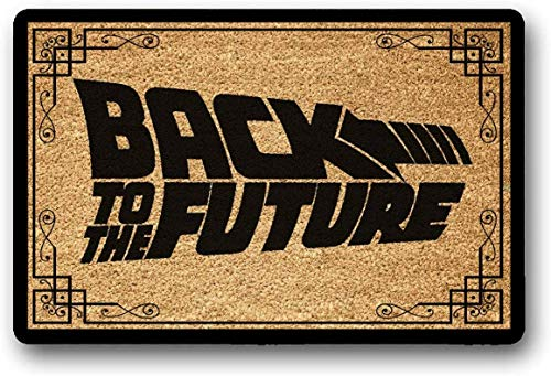 """Yolocal - Felpudo con texto en inglés """"Back to the Future"""" (45 x 75 cm)"""