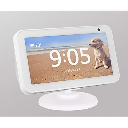 Stand for Echo Show 5 and 8 Anti-Slip Base White Tilt function Kiner Adjustable Stand Mount Accessories for  Alexa Smart Speakers 360 Degree Swivel Magnetic Attachment