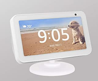 Stand for Echo Show 5, Adjustable Stand Mount Accessories Compatible with Amazon Echo Show 5, Magnetic Attachment,360 Degree Swivel, Tilt Function, Anti-Slip Base, 2019 Release,White
