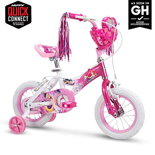 Huffy Bicycle Company 12' Disney Princess Girls Bike by Huffy, Choose Your Own Princess Basket, Pink