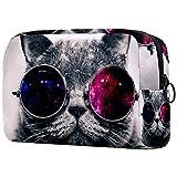 Borsa per pennelli da trucco personalizzata portatile per le donne borsa cosmetici organizzatore da viaggio gatto fresco galassia