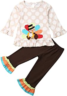 أزياء يوم القديس باتريك للأطفال الصغار الفتيات الرضع الكشكشة تونك فستان توب ليجنز سروال ضيق 2 قطعة مجموعة ملابس الخريف وال...