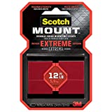 Scotch-Mount Extreme Double-Sided Mounting Strips 414H-ST, 1 in x 3 in 8/pk