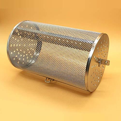 Jinqiuyuan Grill asador de la Cesta de Acero Inoxidable for el Horno Tostador de café Verde Grinder Fabricante de filtros de Barbacoa Cacahuete Frijol máquina de Malla de Asar (Color : 18x30cm)