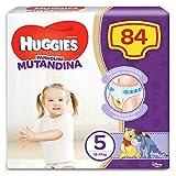 Huggies 2658891 Pannolino Mutandina Taglia 5 (12-17Kg), 1 Confezione da 84 Pannolini, 3090 Gr