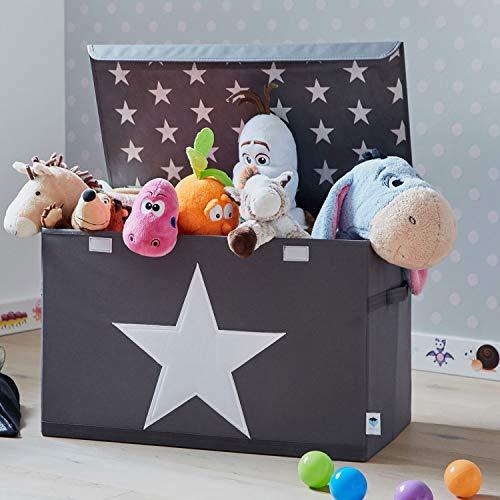 Store It 670360 Spielzeugtruhe, Polyester, Stern - grau/weiß, 62 x 37,5 x 39 cm - 6