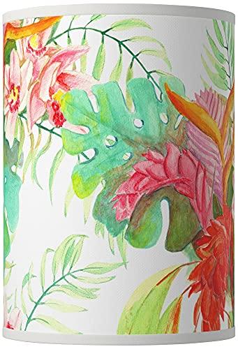 Island Floral Giclee Round Cylinder Lamp Shade 8x8x11 (Spider) - Giclee Glow