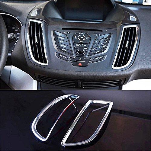 BAQI 2 Stück New Chrome Konsole Air Vent Cover Trim für Ford Kuga Escape 2013-2017