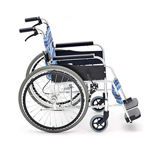 Syxfckc Manuelle Klapp Rollstühle, Deck Kinder tanzen ältere kleine Wagen Reisewasserdicht, korrosionsbeständig, leicht zu transportieren und zu lagern.