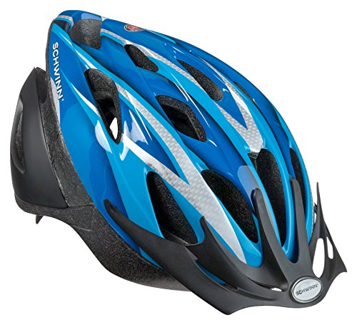 Schwinn Thrasher Bike Helmet, Lightweight Microshell Design, Youth, Blue/Silver