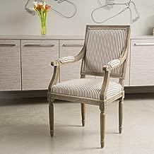 Christopher Knight Home 295145 Martin Weathered Dark Coffee Stripe Arm Chair