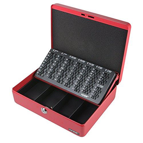 HMF 10015-03 Geldkassette Geldzählkassette 30 x 24 x 9 cm, rot
