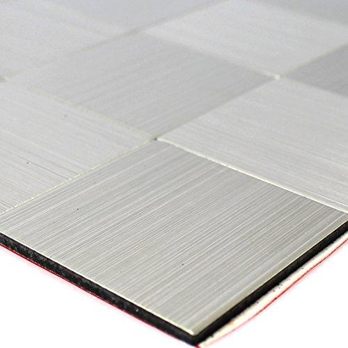Selbstklebendes Metall Edelstahl Mosaik Fliesen Silber