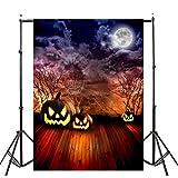 OverDose Damen Halloween Backdrops Kürbis Vinyl 3x5FT Laterne Hintergrund Home Bar...
