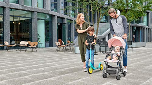 Kinderkraft Pilot light stroller, buggy stroller, child buggy, folding KinderKraft An innovative folding system, with a shoulder strap for easy transport The set contains: Modern barrier, shopping basket under the seat, foot protection, rain cover and cup holder. High quality stored, rubber wheels - all muffled. 3