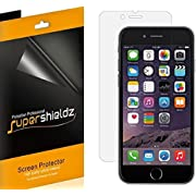 Apple iPhone 7 Plus Screen Protector, [6-Pack] Supershieldz Anti-Bubble High Definition (HD) Clear Shield + Lifetime Replacements Warranty- Retail Packaging