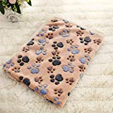 Pet Soft Blankets for Dogs - Fluffy Cats Dogs Blankets for Medium to Large Dogs, Cute Paw Print Pet Throw Puppy Blankets Fleece