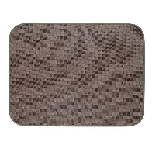 InterDesign iDry tapis de bain, grand tapis antidérapant en microfibre (polyester) pour sdb & WC, tapis bain absorbant séchage rapide, couleur bronze