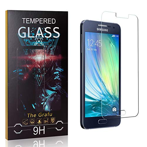 Buy The Grafu Screen Protector for Galaxy A3 2015, 9H Hardness, High Transparency, Anti Scratch Temp...