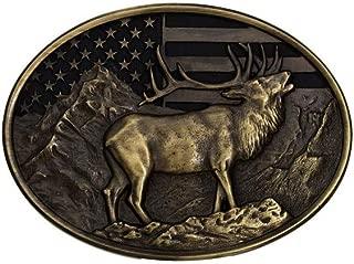 Heritage Heart of the Mountain Elk Buckle