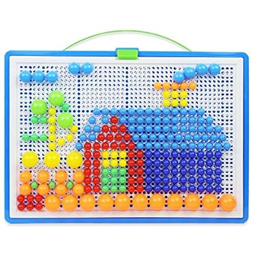 PPuujia Niños 3D Rompecabezas Juguete Botones Coloridos Montaje de champiñones Kit Kit bebé Creativo Mosaico Imagen Rompecabezas tableros Juguetes educativos (Color : B)