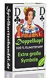 Doppelkopf Senioren Karten aus 100% Kunststoff *PREMIUM* (Plastik +) Spielkarten Französisch,...